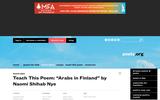 "Teach This Poem: ""Arabs in Finland"" by Naomi Shibab Nye"