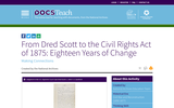 From Dred Scott to the Civil Rights Act of 1875: Eighteen Years of Change