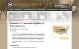 Federalist 10: Democratic Republic vs. Pure Democracy
