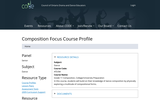 Composition Focus-Course Overview