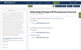 Adobe Digital Design 5.00 Vocabulary Crossword