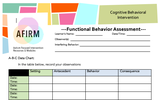 CBI Functional Behavior Assessment in Word