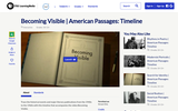 Becoming Visible | American Passages: Timeline