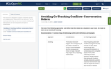 Avoiding Co-Teaching Conflicts- Conversation Rubric