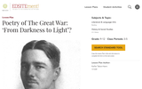 Poetry of The Great War: 'From Darkness to Light'?
