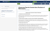 Classroom Tips for Content Area Teachers of Newcomers