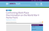 Confronting Work Place Discrimination on the World War II Home Front: Weighing the Evidence