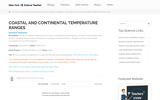 Coastal and Continental Temperature Ranges