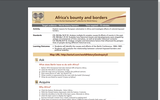 Africa's bounty and borders