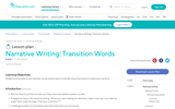Narrative Writing: Transition Words