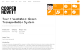 Tour + Workshop: Green Transportation System