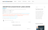 Absorption & Radiation by Land & Water