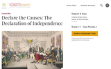 Declare the Causes:  The Declaration of Independence