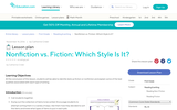 Lesson Plan: Nonfiction vs. Fiction: Which Style Is It?
