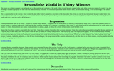Around the World in Thirty Minutes