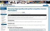 Choosing Output Quantity Under Perfect Competition (Context Rich Problem)