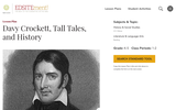 Davy Crockett, Tall Tales, and History