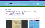 Lowering the Voting Age: Nixon and the 26th Amendment