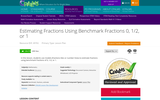 Estimating Fractions Using Benchmark Fractions 0, 1/2, or 1