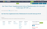 Get 'Dem Fives: Supplemental Units of Mathematics for Use with Code.org's AP CSP