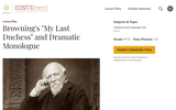 """Browning's """"My Last Duchess"""" and Dramatic Monologue"""