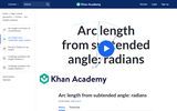 Arc Length from Subtended Angle: Radians