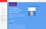 The Biggest Snowball Fight! Lesson Plan