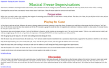 Musical Freeze Improvisations