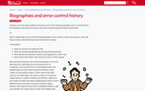 Biographies and error control history (Ages 8-10)