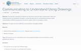 Communicating to Understand Using Drawings