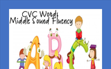 CVC Words Worksheet (Middle Sounds Fluency) FREEBIE