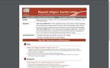 Beyond religion: Scarlet Letter