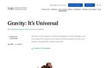 Gravity: It's Universal