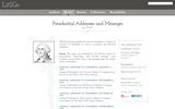 Presidential Addresses and Messages