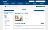 Algebra I Module 2, Topic D, Lesson 16