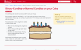 Binary Candles or Normal Candles on your Cake