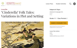 Cinderella Folk Tales: Variations in Plot and Setting