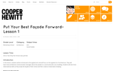 Put Your Best Facade Forward -- Lesson 1