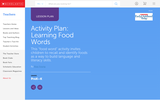 Activity Plan: Learning Food Words