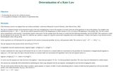 Determination of a Rate Law