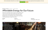 Affordable Energy for Our Future