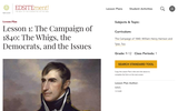 Lesson 1: The Campaign of 1840: The Whigs, the Democrats, and the Issues
