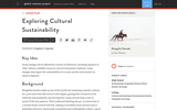 Exploring Cultural Sustainability
