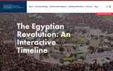 The Egyptian Revolution: An Interactive Timeline