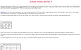 Activity Series Lab Part 1