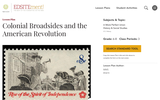 Colonial Broadsides and the American Revolution