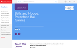Balls and Hoops: Parachute Ball Games