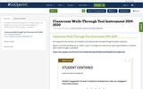 Classroom Walk-Through Tool Instrument 2019-2020