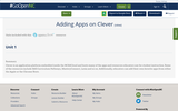 Adding Apps on Clever