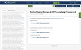 Adobe Digital Design 2.00 Vocabulary Crossword